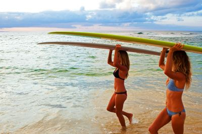 Private surfing lesson