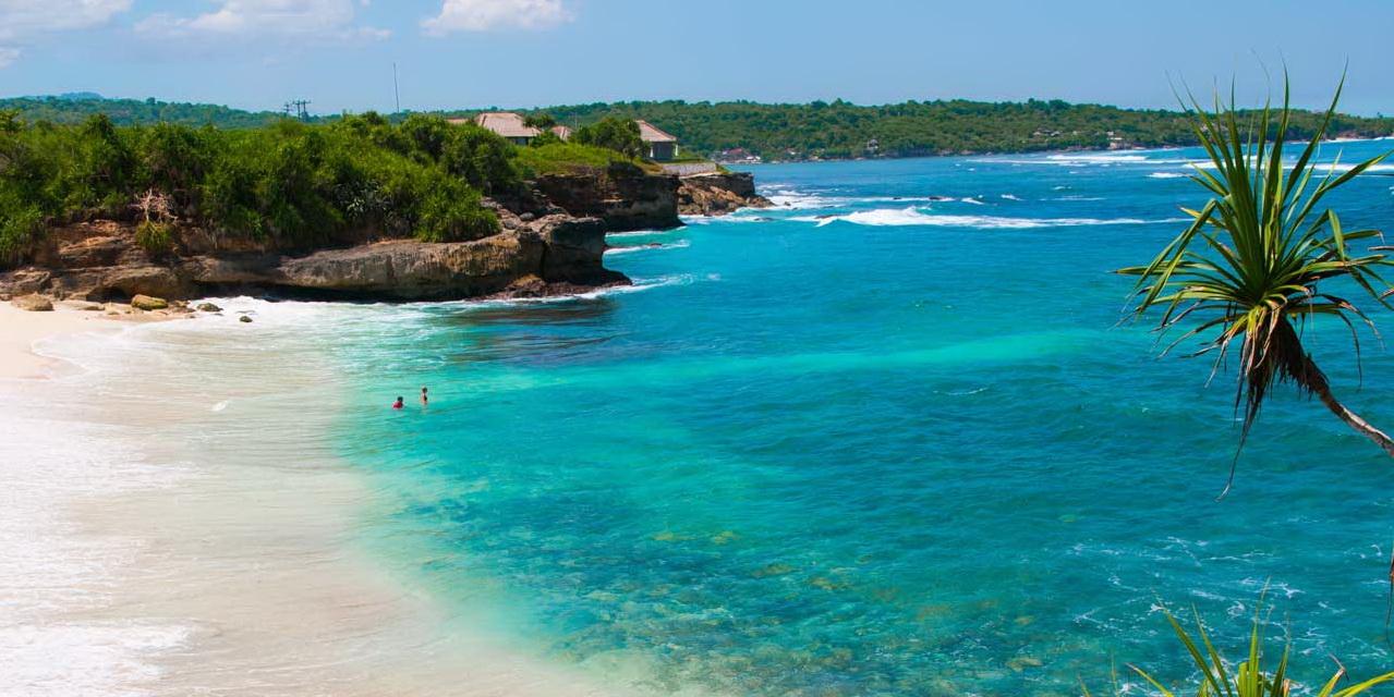 sunny beach in Bali